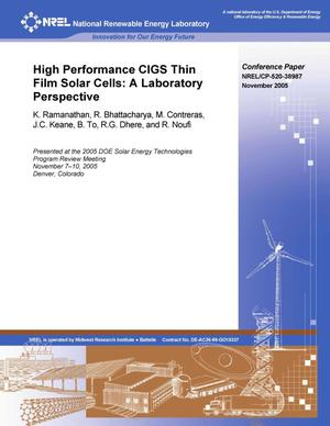Primary view of object titled 'High Performance CIGS Thin-Film Solar Cells: A Laboratory Perspective'.