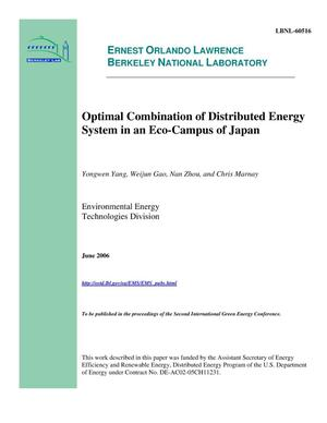 Primary view of object titled 'Optimal Combination of Distributed Energy System in an Eco-Campusof Japan'.