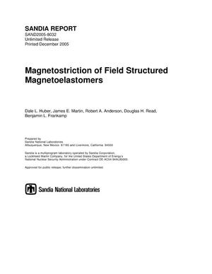Primary view of object titled 'Magnetostriction of field-structured magnetoelastomers.'.