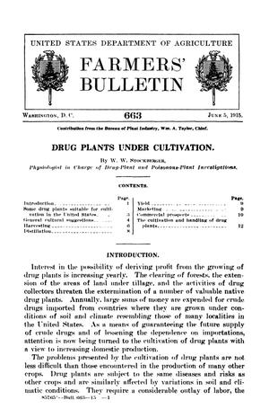 Primary view of Drug Plants Under Cultivation