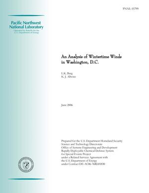 Primary view of object titled 'An Analysis of Wintertime Winds in Washington, D.C.'.