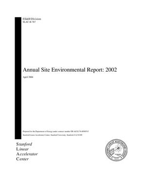 Primary view of object titled 'Annual Site Environmental Report: 2002'.