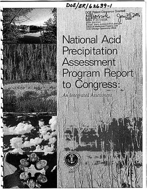Primary view of object titled 'National Acid Precipitation Assessment Program Report to Congress: An Integrated Assessment'.