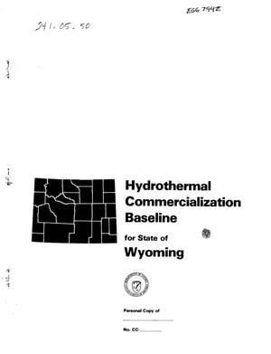 Primary view of object titled 'Hydrothermal commercialization baseline for state of Wyoming'.