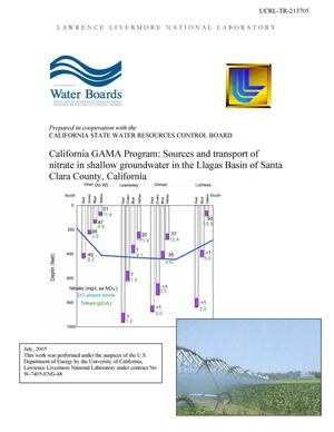 Primary view of object titled 'California GAMA Program: Sources and transport of nitrate in shallow groundwater in the Llagas Basin of Santa Clara County, California'.