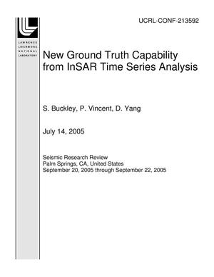 Primary view of object titled 'New Ground Truth Capability from InSAR Time Series Analysis'.