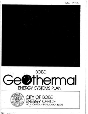 Primary view of object titled 'Geothermal Energy Systems Plan for Boise City'.