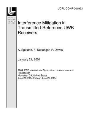 Primary view of object titled 'Interference Mitigation in Transmitted-Reference UWB Receivers'.