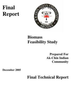 Primary view of object titled 'Ak-Chin Indian Community Biomass Feasiiblity Study'.