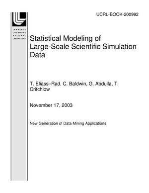 Primary view of object titled 'Statistical Modeling of Large-Scale Scientific Simulation Data'.