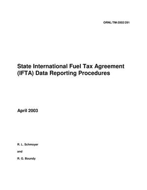 Primary view of object titled 'State International Fuel Tax Agreement (IFTA) Data Reporting Procedures'.