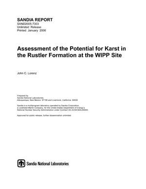 Primary view of object titled 'Assessment of the potential for karst in the Rustler Formation at the WIPP site.'.