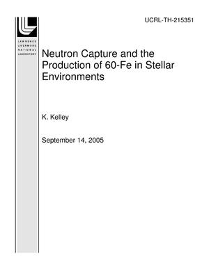 Primary view of object titled 'Neutron Capture and the Production of 60-Fe in Stellar Environments'.