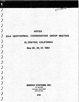 Primary view of object titled '33rd geothermal coordinating group meeting'.