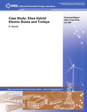 Primary view of object titled 'Case Study: Ebus Hybrid Electric Buses and Trolleys'.