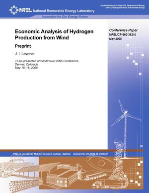 Primary view of object titled 'Economic Analysis of Hydrogen Production from Wind: Preprint'.