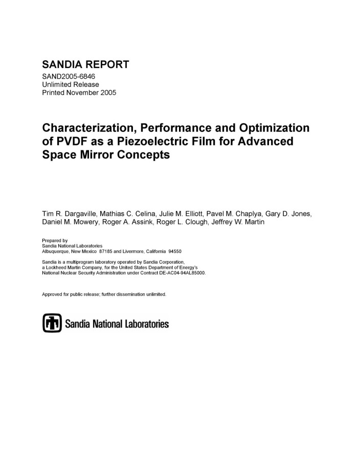 Characterization, performance and optimization of PVDF as a