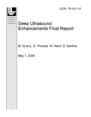 Primary view of object titled 'Deep Ultrasound Enhancements Final Report'.