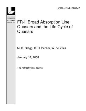 Primary view of object titled 'FR-II Broad Absorption Line Quasars and the Life Cycle of Quasars'.