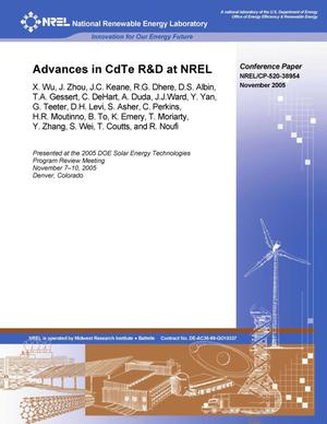 Primary view of object titled 'Advances in CdTe R&D at NREL'.