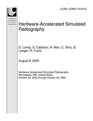 Primary view of object titled 'Hardware-Accelerated Simulated Radiography'.