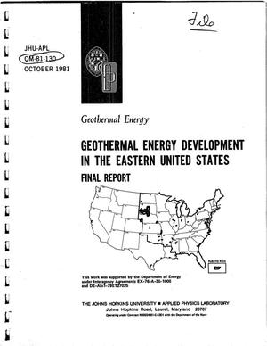 Primary view of object titled 'Geothermal Energy Development in the Eastern United States. Final Report'.