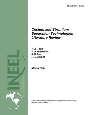 Primary view of object titled 'Cesium and Strontium Separation Technologies Literature Review'.