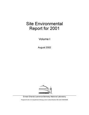 Primary view of object titled 'Site Environmental Report for 2001'.