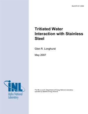 Primary view of object titled 'Tritiated Water Interaction with Stainless Steel'.