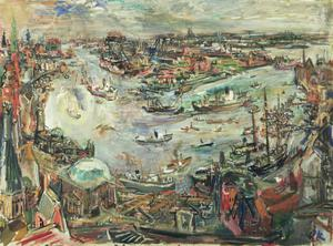Primary view of object titled 'Port of Hamburg'.