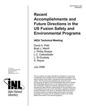 Primary view of object titled 'Recent Accomplishments and Future Directions in US Fusion Safety & Environmental Program'.