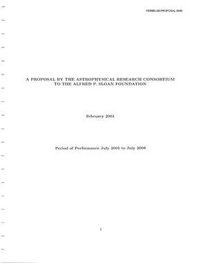 Primary view of Proposal letter regarding the Sloan Disgital SKy Survey