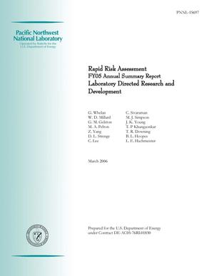 Primary view of object titled 'Rapid Risk Assessment: FY05 Annual Summary Report'.