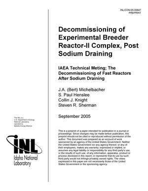 Primary view of object titled 'Decommissioning of Experimental Breeder Reactor - II Complex, Post Sodium Draining'.
