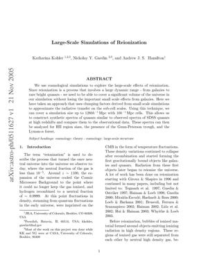Primary view of object titled 'Large-scale simulations of reionization'.