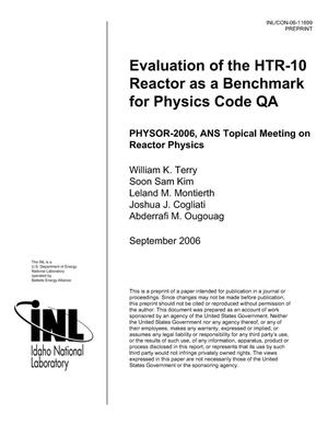 Primary view of object titled 'Evaluation of the HTR-10 Reactor as a Benchmark for Physics Code QA'.