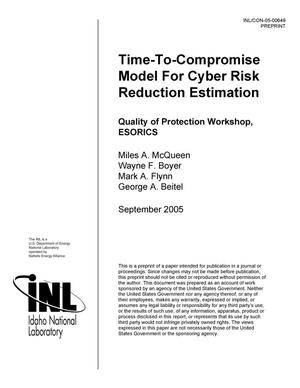 Primary view of object titled 'Time-to-Compromise Model for Cyber Risk Reduction Estimation'.