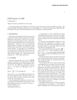 Primary view of object titled 'CKM physics at CDF'.