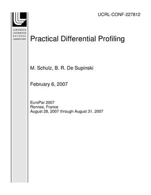 Primary view of object titled 'Practical Differential Profiling'.