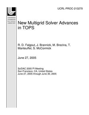 Primary view of object titled 'New Multigrid Solver Advances in TOPS'.