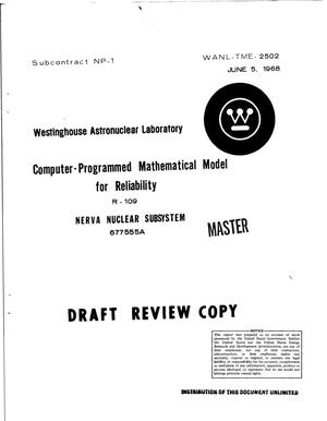 Primary view of object titled 'Computer-programmed mathematical model for reliability'.