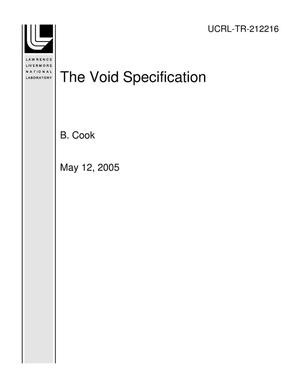 Primary view of object titled 'The Void Specification'.
