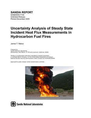 Primary view of object titled 'Uncertainty analysis of steady state incident heat flux measurements in hydrocarbon fuel fires.'.