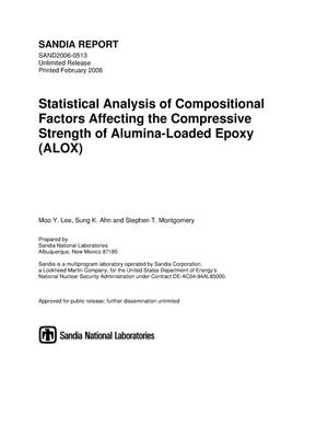 Primary view of object titled 'Statistical analysis of compositional factors affecting the compressive strength of alumina-loaded epoxy (ALOX).'.