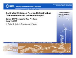 Primary view of object titled 'Controlled Hydrogen Fleet and Infrastructure Demonstration and Validation Project: Spring 2007 Composite Data Products; March 8, 2007'.