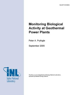 Primary view of object titled 'Monitoring Biological Activity at Geothermal Power Plants'.