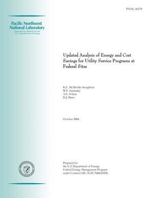 Primary view of object titled 'Updated Analysis of Energy and cost Savings for Utility service Program at Federal Sites'.