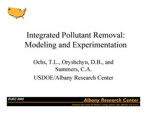 Primary view of object titled 'Integrated pollutant removal: modeling and experimentation'.