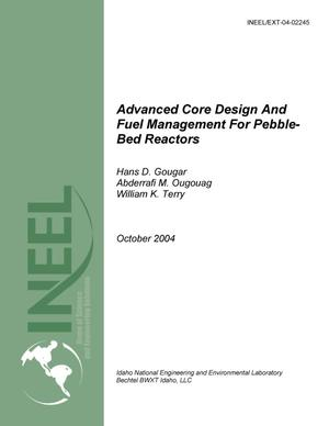 Primary view of object titled 'Advanced Core Design And Fuel Management For Pebble-Bed Reactors'.
