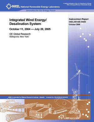 Primary view of object titled 'Integrated Wind Energy/Desalination System: October 11, 2004 -- July 29, 2005'.